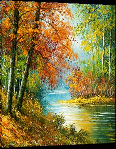 Picture of Landscapes - Colourful River Scene - O078