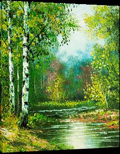 Picture of Landscapes - Colourful River Scene - O077
