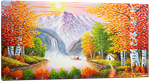 Picture of Landscapes - Chinese Waterfall Scene - O053