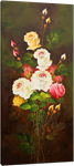 Picture of Flowers - Roses - Red, White & Yellow Tall Bunch - O018